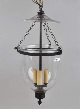 Blown Glass Hanging Hall Lantern