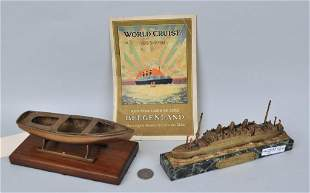 Two Brass Ship Models