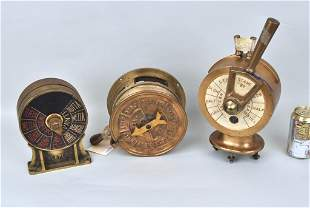 Three Brass Ship Engine Orders, Various Makers