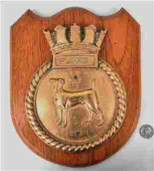 "Bronze Ship's Badge ""Plucky"""