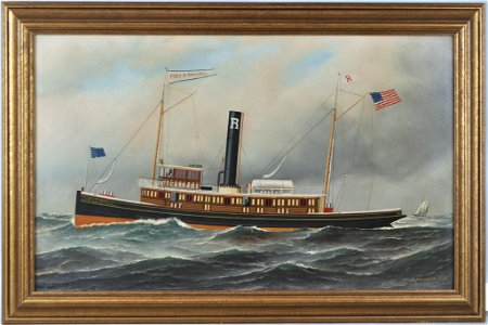 """A. Jacobsen,Tugboat """"Fred B. Dalzell"""" O/C"""