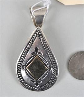 Native American Sterling Pendant, Ray Tafoya