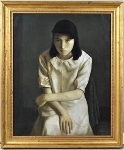 Ding Li, Framed Portrait of Seated Lady