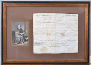 Signed Autographed Document, P. Henry 1788