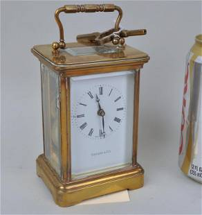 Petite Tiffany & Co. Brass Carriage Clock