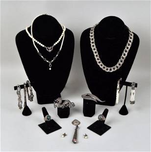 Group Vintage Marcasite & Sterling Jewelry