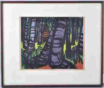 Clifton Karhu Woodblock Print
