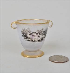 Daum Diminutive Cameo Glass Cup