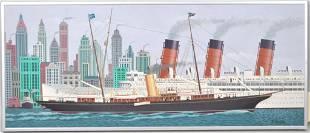 """James Flora, A/B """"J.P. Morgan's Corsair III"""""""