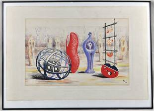 """Henry Moore, """"Sculptural Objects"""" Lithograph"""