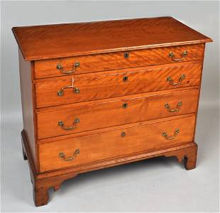 NE Chippendale Four Drawer Chest