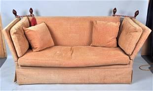 Vintage Knole Style Upholstered Sofa