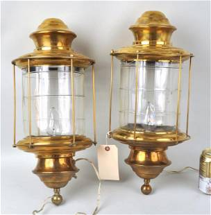 Pair Brass Lanterns, Joan Crawford History