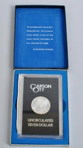 1: 1884 Uncirculated Carson City Silver Dollar