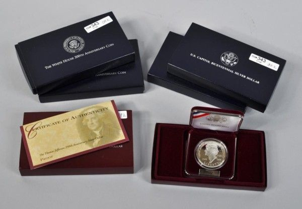5 U. S. Mint Silver Coin Proof Sets