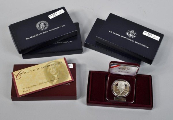 2: 5 U. S. Mint Silver Coin Proof Sets