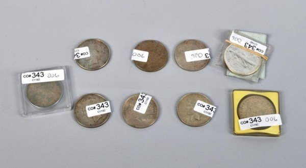 6: Nine Silver Dollars 1921-1928 & 1986