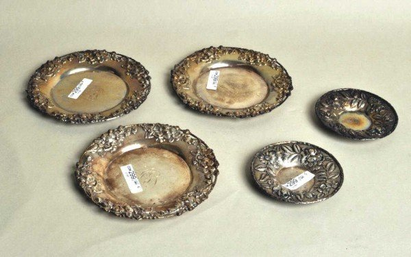 8: S. Kirk & Son Five Pieces Sterling Silver