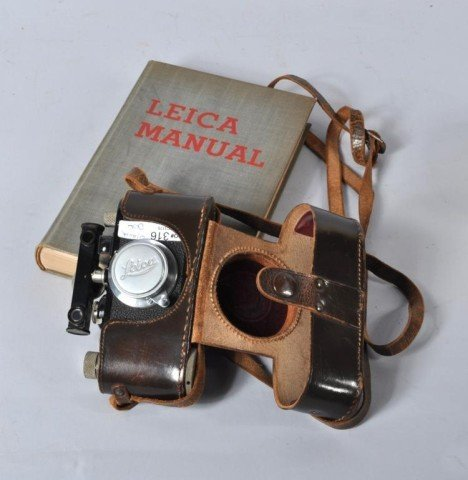 11: 1930's Leica Elmar Camera & 1935 Leica Book