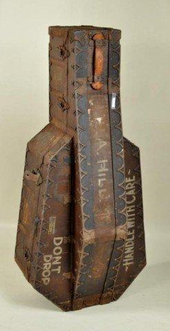 12: Vintage Iron-bound Cello Case