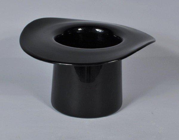 13: Black Glass Top Hat