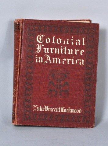 "22: ""Colonial Furniture in America"" 1st, Lockwood"