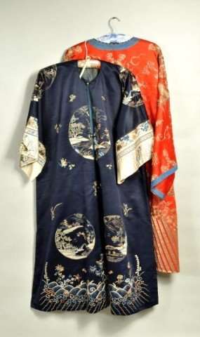 23: Two Chinese Silk Robes, Early 20th C.