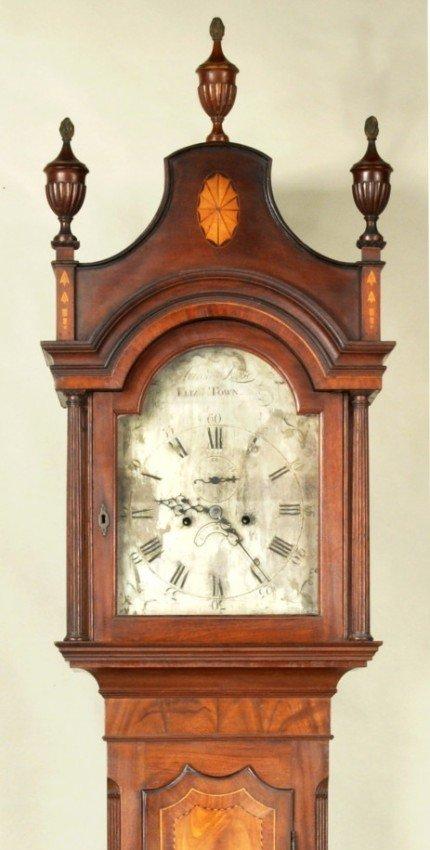234: Aaron Lane Tall Clock w/Silvered Dial, NJ