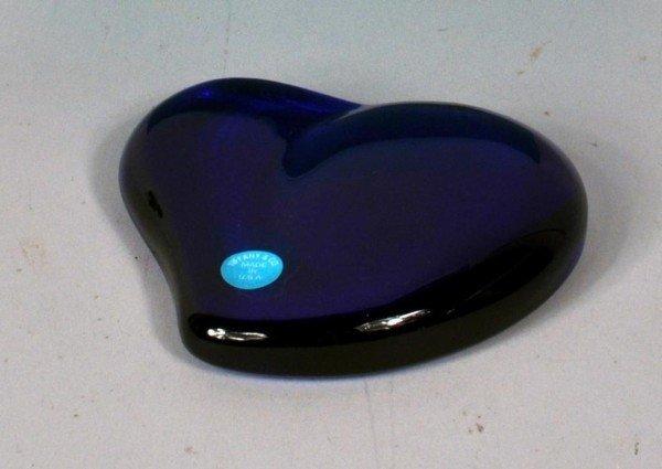 1: Tiffany Peretti Cobalt Blue Heart Paperweight