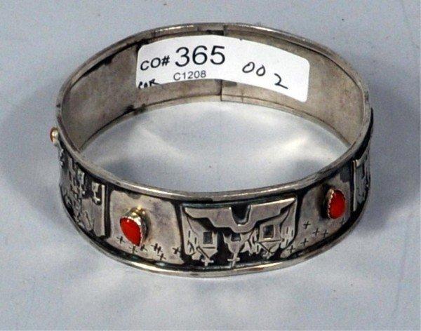 8: Native American Bracelet w/Coral