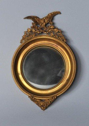 12: Miniature Brass Convex Mirror