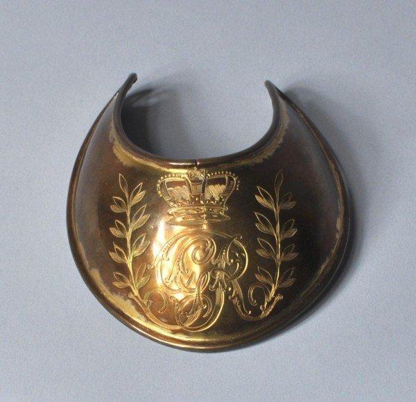 """17: Brass """"Gorget"""" 18th/19th Century"""
