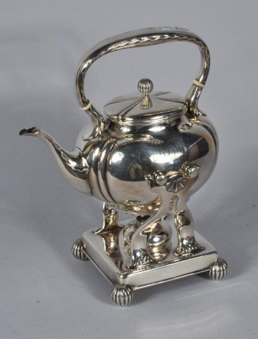 18: Whiting Sterling Silver Tea Pot on Stand