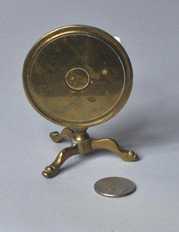 21: Miniature Brass Tilt Top Tea Table