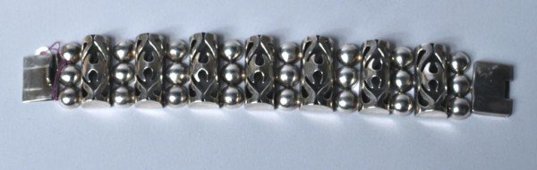 24: Mexican Silver Bracelet Signed