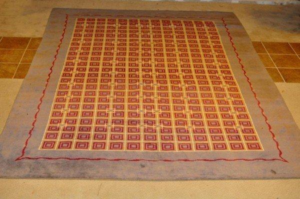 299: Art Deco 2001 Boccara Designs Wool Carpet