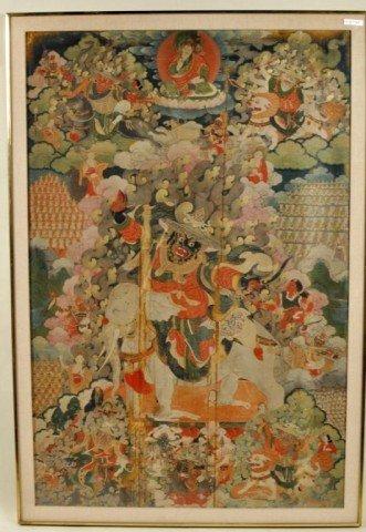 374: Framed Tibetan Thangka