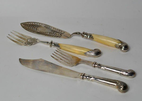 6: Two Pair Sterling Silver Fish Servers