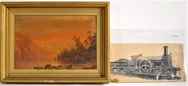251 Chromolithograph of A Bierstadt Sunset