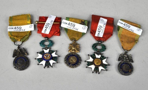 1: Five French War Medals