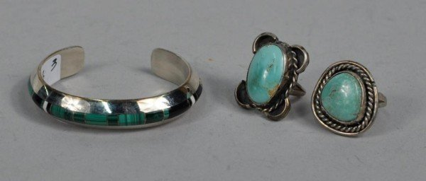 7: Three Pieces of Native American Silver Jewelry