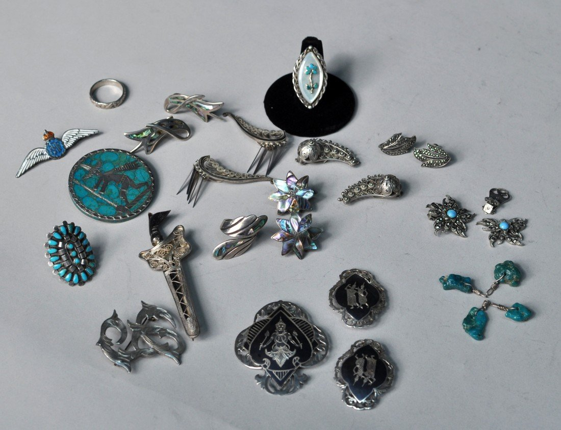 12: Group of Assorted Jewelry Items, Many Sterling