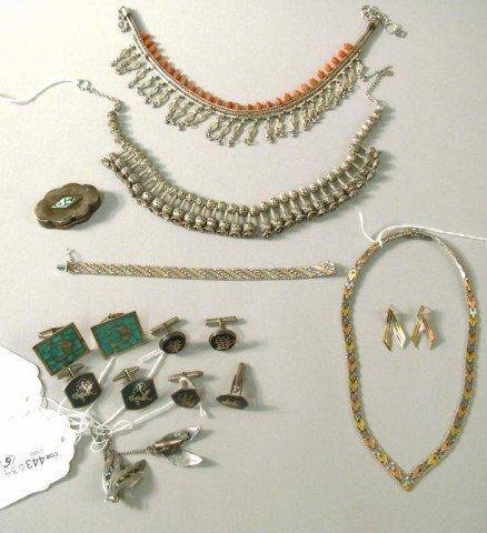 13: Necklaces, Pill Box, Bracelet, Earrings, Cufflinks