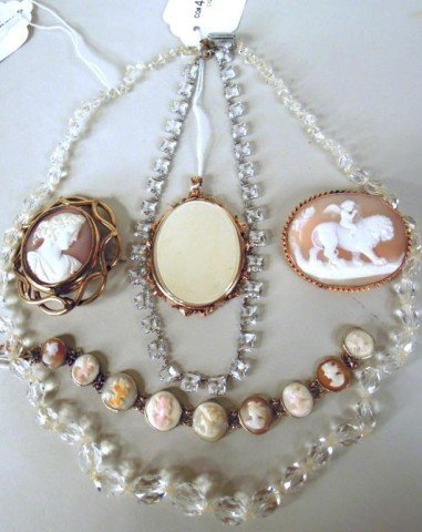 15: Three Gold Plated Items and Two Necklaces