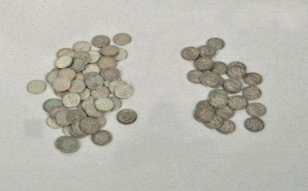 8: Large Group of U.S. Silver Dimes