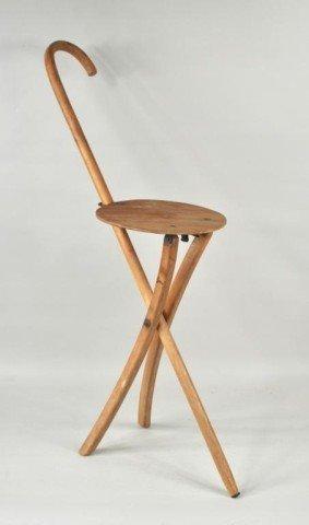 Stafford Johnson Cane Form Folding Chair