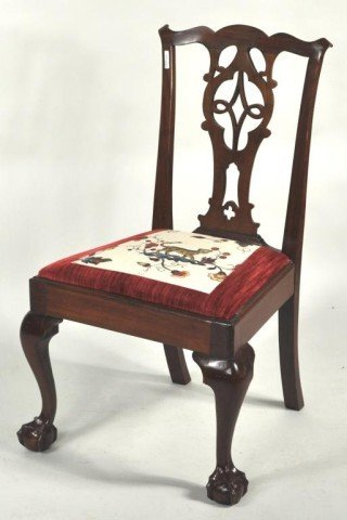 119: New York Chippendale Mahogany Side Chair