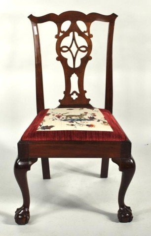 119: New York Chippendale Mahogany Side Chair - 2