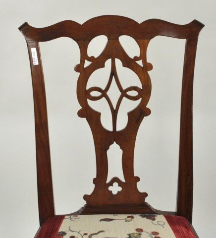 119: New York Chippendale Mahogany Side Chair - 3