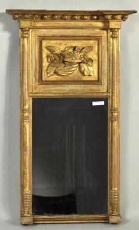 Boston Classical Gilded Architectural Mirror